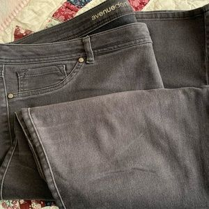 Avenue charcoal gray butter denim jeans